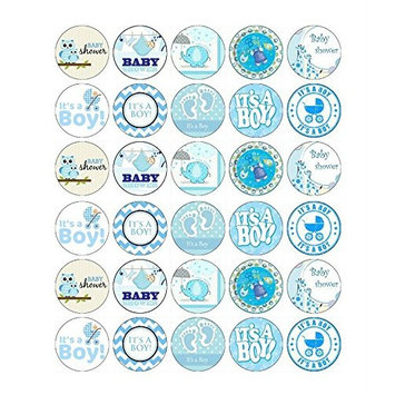 Baby Shower Boy Cupcake Toppers Edible Wafer Paper BUY 2 GET 3RD FREE