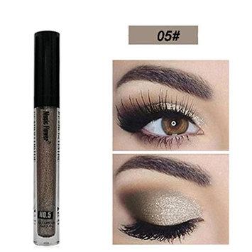 YOYORI Eye shadow,8 Colors Of Gorgeous Metallic Glitter And Glowing Iiquid Eyeshadow Facial Cosmetics for Professional Makeup or Daily Use