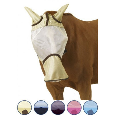 Centaur Super Fly Long Nose Mask Horse Ice Blue/Navy