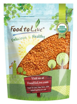 Organic Red Split Lentils by Food to Live (Whole Dry Beans, Non-GMO, Raw, Sproutable, Bulk) - 3 Pounds