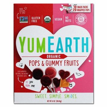 YumEarth Valentine Organic Pops & Gummy Fruits Variety Pack 9.4 oz.