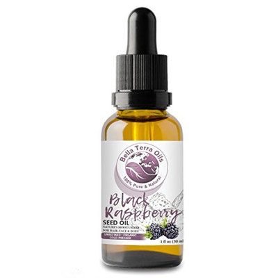 Black Raspberry Seed Carrier Oil. 1oz. Cold-pressed. Unrefined. Organic. 100% Pure. US-made. Hexane-free. Protects and Rejuvenates Skin. Natural Moisturizer. For Hair, Skin, Nails, Stretch Marks.