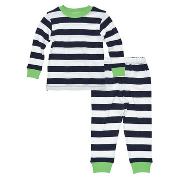 Under the Nile Baby Long Johns - 6m - Rugby Navy Stripe