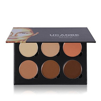 Ucanbe Cream Contour Kit - 6 Color Contouring Makeup and Highlighter Palette for Medium Skin