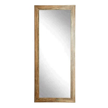 BrandtWorks Blonde Barnwood Leaning Floor Mirror