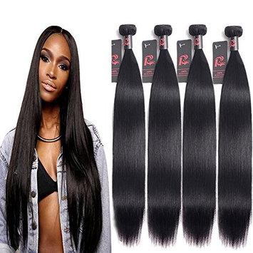 Mink 8A Virgin Malaysian Straight Hair 4 Bundles (20 22 24 26, Natural Color) 100% Unprocessed Virgin Human Hair Weaving Remy Human Hair Extensions 400g