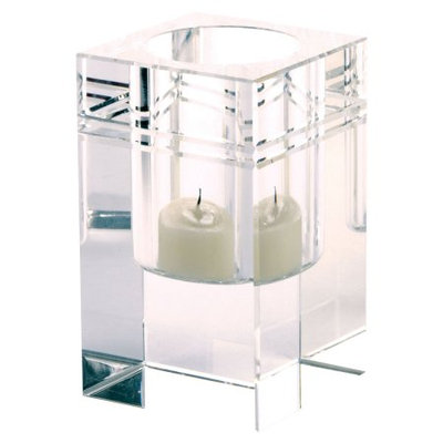 Lazy Susan Square Crystal Collar Votive, Small
