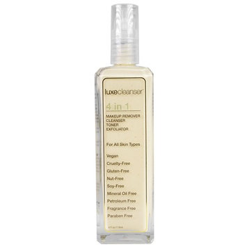 LuxeBeauty, Luxe Cleanser, 4 in 1, Makeup Remover, Cleanser, Toner, Exfoliator, 4 fl oz (118 ml)