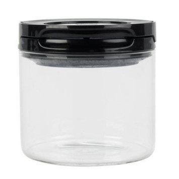 OXO Good Grips Flip Lock Glass Canister (1/2-Quart/Black)