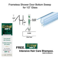 Clear Shower Door Bottom Seal with Drip Rail for 1/2