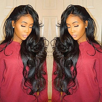 H&N Hair Brazilian Virgin Hair Lace Front Wigs Body Wave Human Hair Wigs For Black Women 130% Density with Baby Hair Natural Color 16inch