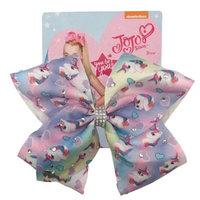 Girls' Nickelodeon JoJo Siwa Pastel Rainbow with Unicorns Bow Hair Clip
