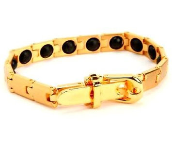 Electrified Feel Better Jewelry ELECTRIFIED FEEL BETTER EJNP-P021 GOLD PLATED Bracelet 16 Germanium Stones
