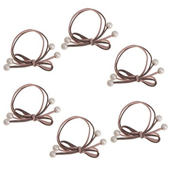 Fityle 6 Piece Fashion Women Headpiece Elastic Hair Bands For Girls Hairband Hair Rope Gum Rubber Band