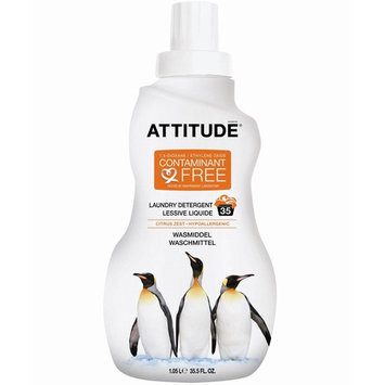 ATTITUDE, Laundry Detergent, Citrus Zest, 35 Loads, 35.5 fl oz (1.05 l) [Scent : Citrus Zest]