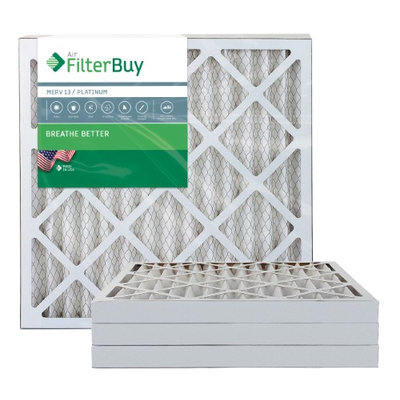 AFB Platinum MERV 13 23.5x23.5x2 Pleated AC Furnace Air Filter. Filters. 100% produced in the USA. (Pack of 4)