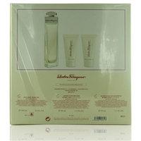 Salvatore Ferragamo GSWSALVATOREF3P34EDP 3.4 oz Salvatore Ferragamo Eau De Toilette Spray Gift Set - 3 Piece
