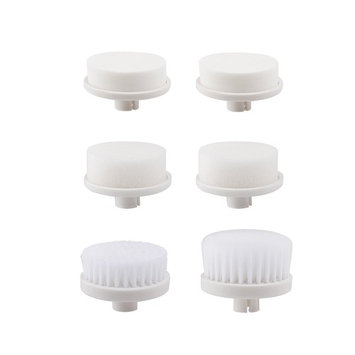 PIXNOR 6 Pieces Replacement Brush Heads for P2016 P2017 Facial Brush