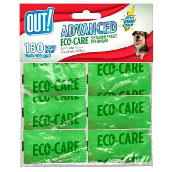 OUT! Advanced Corn Starch Pet Waste Disposal Bags - 180ct