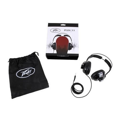 Peavey PVH 11 Dynamic Closed-Back Design Headphones, Stereo 3.5mm Cable Connector, 40mm (1.57