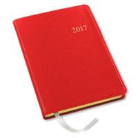 2017 Weekly Desk Red Cartier Planner