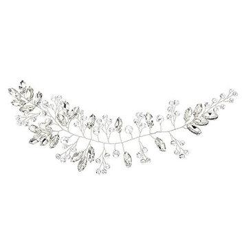 Miallo Wedding Headband 100% Handmade Rhinstone with Crystal Bridal Hair Accessories Bridesmaid Headpieces