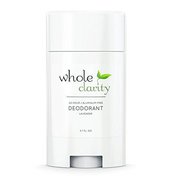 Natural & Organic Deodorant For Men & Women - Hand Made in USA - Vegan & Cruelty Free - Aluminum Free & High Performance - Clean & Healthy Ingredients that Work! 3.1 Ounce [Lavender] by Whole Clarity