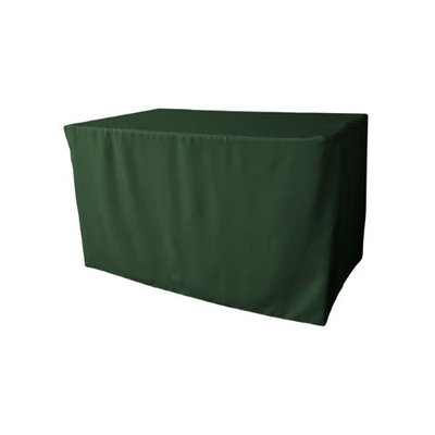LA Linen TCpop-fit-48x30x30-GreenHuP20 1.8 lbs Polyester Poplin Fitted Tablecloth Hunter Green