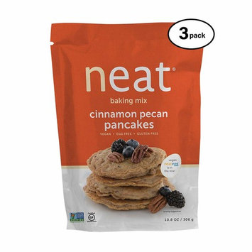 neat - Plant-Based - Cinnamon Pecan Pancakes Mix (10.8 oz.) (Pack of 3) - Non-GMO, Gluten-Free, Soy Free, Baking Mix
