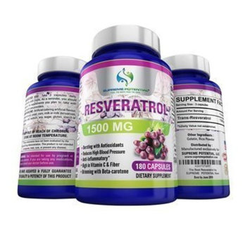 Supreme Potential 100% Pure Resveratrol Extract for Anti-Aging & Heart Health - 1500mg Maximum Strength (1)