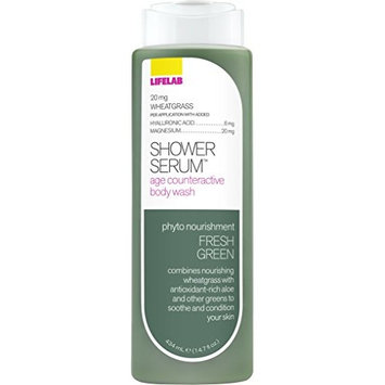 Lifelab Fresh Green Age Counteractive Body Wash Shower Serum, 14.7 Fluid Ounce