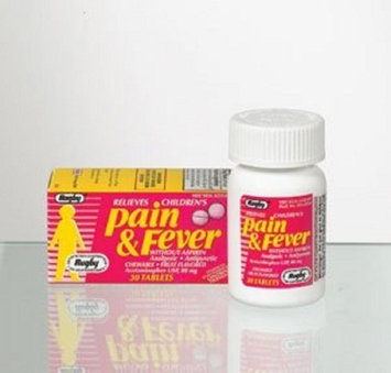 RUGBY APAP CHILD 80MG CHEW TAB ACETAMINOPHEN-80MG Pink 30 TABLETS UPC