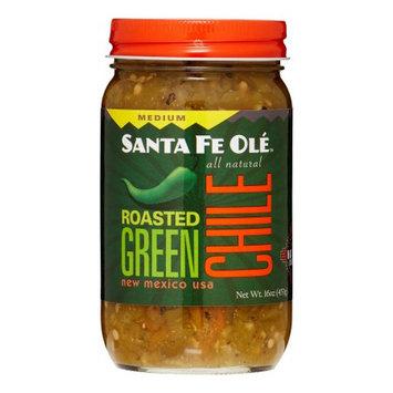 Santa Fe Ole 16 oz. Roasted Green Chile Medium Sauce Case Of 6
