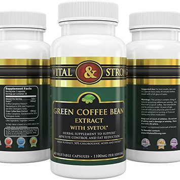 Vital & Strong Green Coffee Bean Extract with Svetol 180 Count [180]