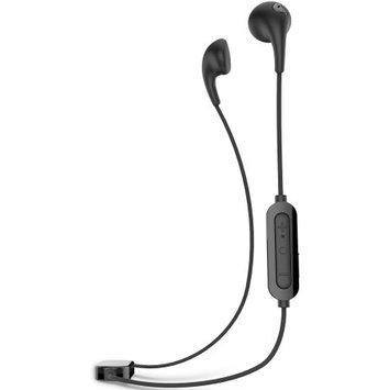 iLuv Bubble Gum Air Inner Ear Bluetooth Headphones (Black) with Built-in Mic