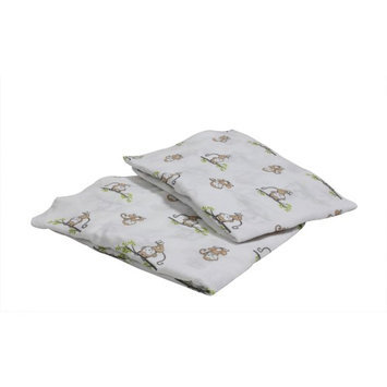 Bacati Happy Monkeys Crib Fitted Sheets Color: Biege