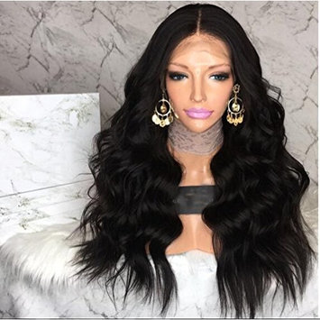 Full Lace Body Wave Human Hair Wigs Natural Black Color Glueless Brazilian Hair Wig 180% Density with Baby Hair for Black Women