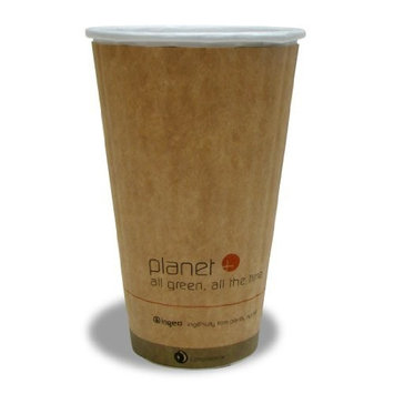 Planet + 100% Compostable PLA Laminated Double Wall Insulated Hot Cup, 16-Ounce, 600-Count Case [16 Ounce]