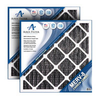 Airex 12x20x1 Carbon MERV 8 Pleated AC Furnace Air Filter, Box of 6 - Actual Size: 11 ½ X 19 ½ X ¾ (Pack of 6)