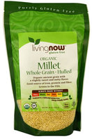 Now Foods NOW Livingnow® Gluten Free Organic Millet - 16 oz pack of 12