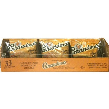 Grandmas Homestyle Peanut Butter Cookies 2.5 ounces Case of 33