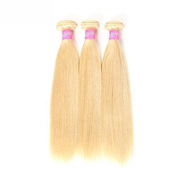 ISEE Hair 613 Blonde Virgin Hair Straight human hair Extensions, Pack of 3, 95-100g/Bundle, Honey Blonde Brazilian Hair Weave, 8A Blonde Human Hair bundles(20 22 24)