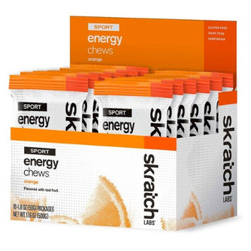 Skratch Labs Sport Energy Chews - Box of 10 packs (Orange)
