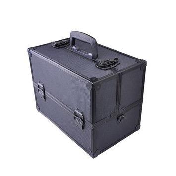 Professional Large Black Aluminum Cosmetic Box Train Makeup Artist Storage Case - SciencePurchase