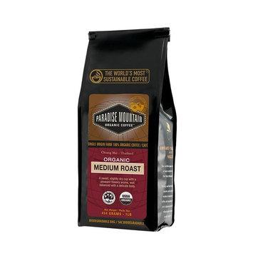 Paradise Mountain, Rare Thailand Medium Roast, Certified Organic, Fair Trade, Whole Bean Coffee 16 oz.