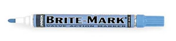 Dykem Valve Action Paint Marker (Brite Mark(R) 916, Lite Blue). Model: 84008