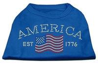 Ahi Classic American Rhinestone Shirts Blue Med (12)