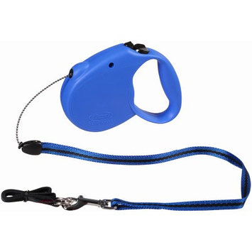 Flexi Retractable Dog Leash, 16 Ft. Cord Dog Walking Leash, Small for Dogs up to 26 Lbs. Blue, Fast and Reliable 1-Hand Braking System with Permanent Braking Feature