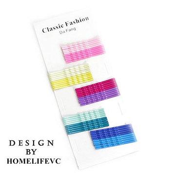 Card of 50 Rainbow candy color clip hairpin Bobby Pins Long Hair Pins Bun Pins Hair Grips