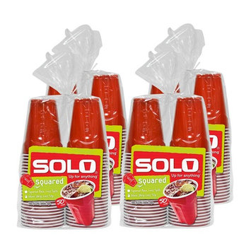 Solo Cup Red Squared Plastic Party Cups, 18 Ounce, 200 Count